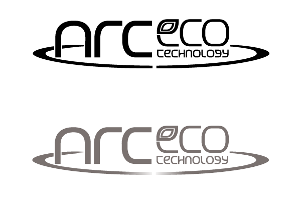 ArcEco logo Black and gray versions