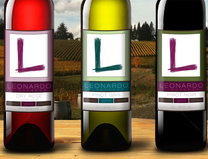 wine labels close up