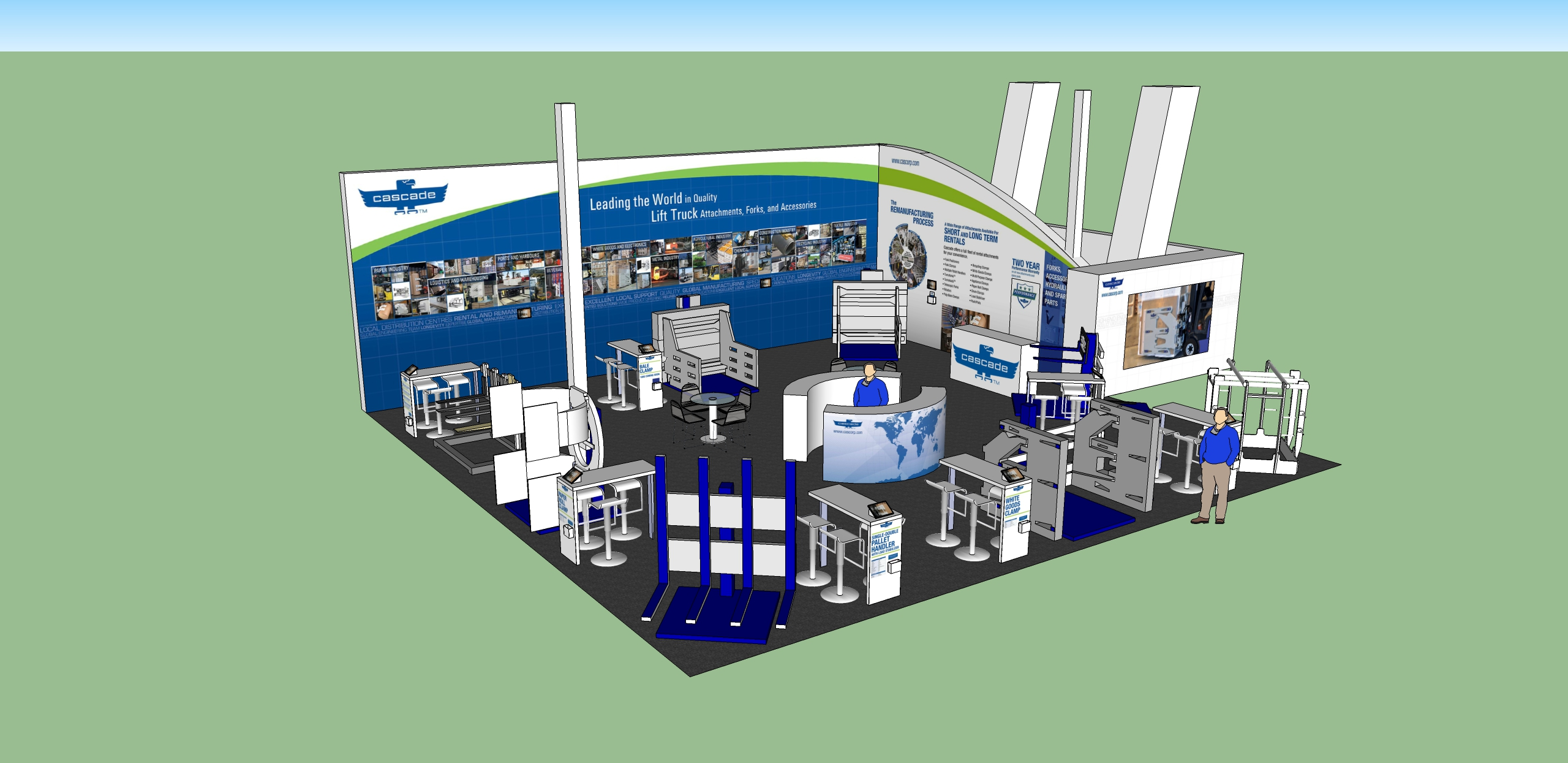 Trade Show Booth Layout : Cascade corp trade show design « jasonharrisdesign